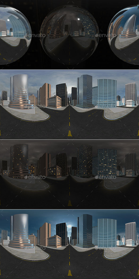 HDRI City Pack Layout3 V2 - 3DOcean Item for Sale