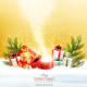 Christmas Holiday Background with Presents