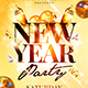 New Year Party Flyer Template 4