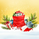 Holiday Christmas Background w`ith Presents