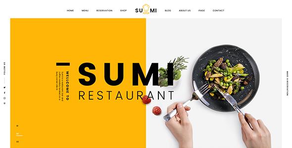 Sumi | Drag & Drop Restaurant Joomla Template
