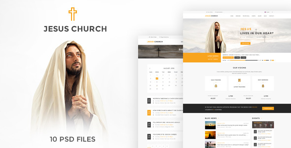 JESUS CHURCH | PSD template