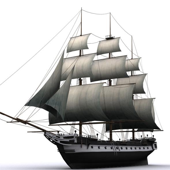 warship corvette - 3DOcean Item for Sale