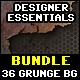 36 Grunge Backgrounds Bundle