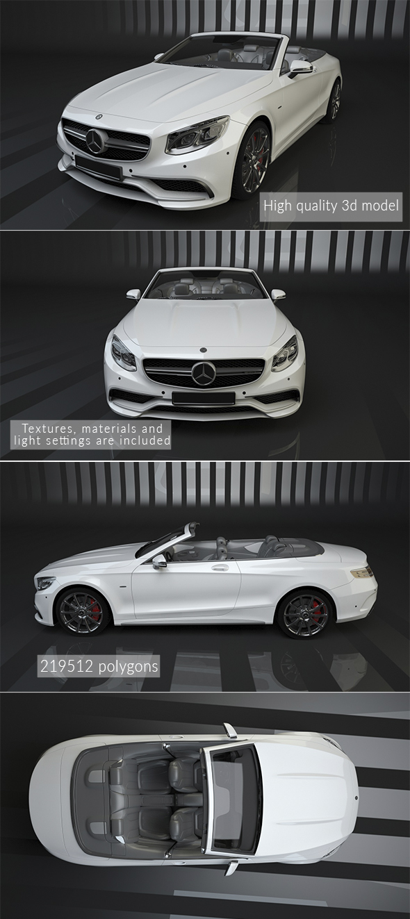 Mercedes-Benz S63 AMG Cabriolet - 3DOcean Item for Sale
