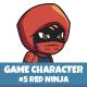 Red Ninja Sprite Character