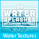 20 Water Splashes Background Textures