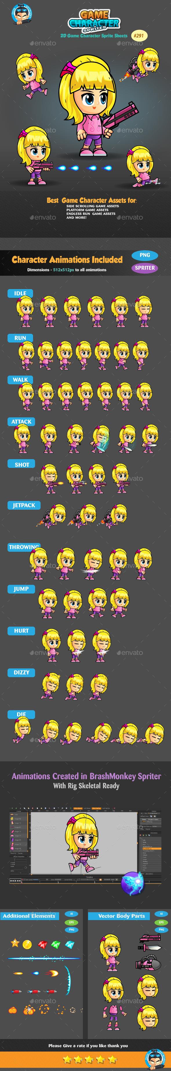 2D Game Character Sprites 291 (Sprites)