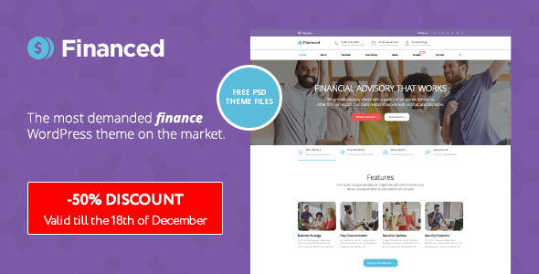 Download Financed - Finance WordPress Theme nulled download
