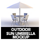 Outdoor Sun Umbrella Mockup