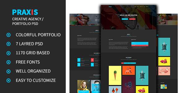 Praxis - Creative Agency and Portfolio PSD Template