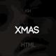 Xmas - One Page portfolio Template