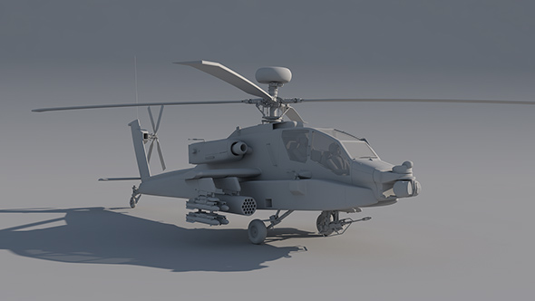 Boeing AH-64 Apache - 3DOcean Item for Sale