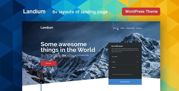Download Landium - App & Landing Page WordPress Theme Pack nulled download