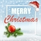Christmas Greeting Card with Santa Cap