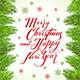 Lettering Merry Christmas and Happy New Year on White Background