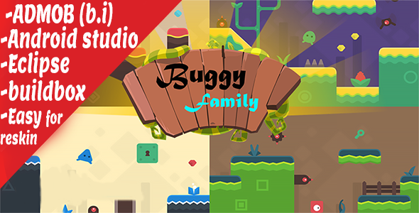 Family cartoon run admob android source code