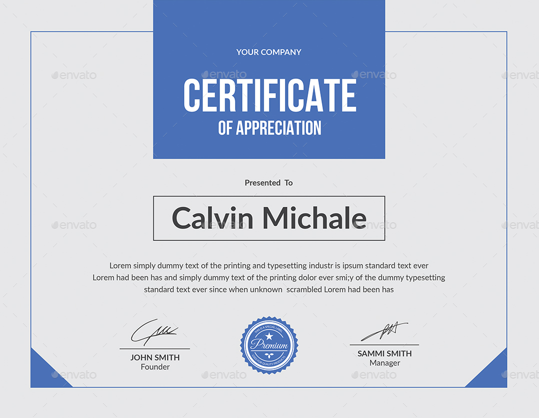 Multipurpose Certificate  Free Business Certificate Templates