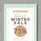 Winter Sale Flyer + Instagram Banner