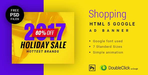 Online shopping - HTML Animated Banner 10