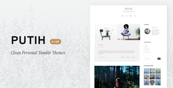 Putih | Clean Personal Tumblr Theme