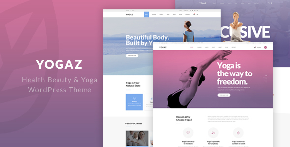 Yogaz – Healthy Beauty & Yoga WordPress Theme (Health & Beauty) images