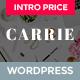 Carrie - чистая тема личного блога или журнала на WordPress