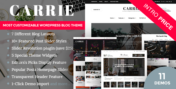 Download Carrie - Personal & Magazine WordPress Responsive Clean Blog Theme nulled download