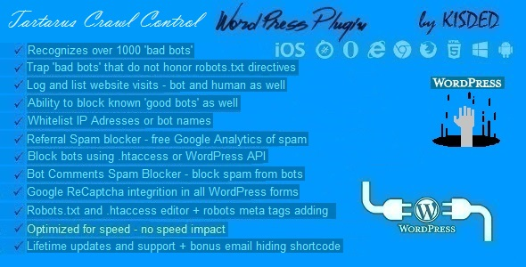 Tartarus Bot Ban & Crawl Control Plugin for WordPress