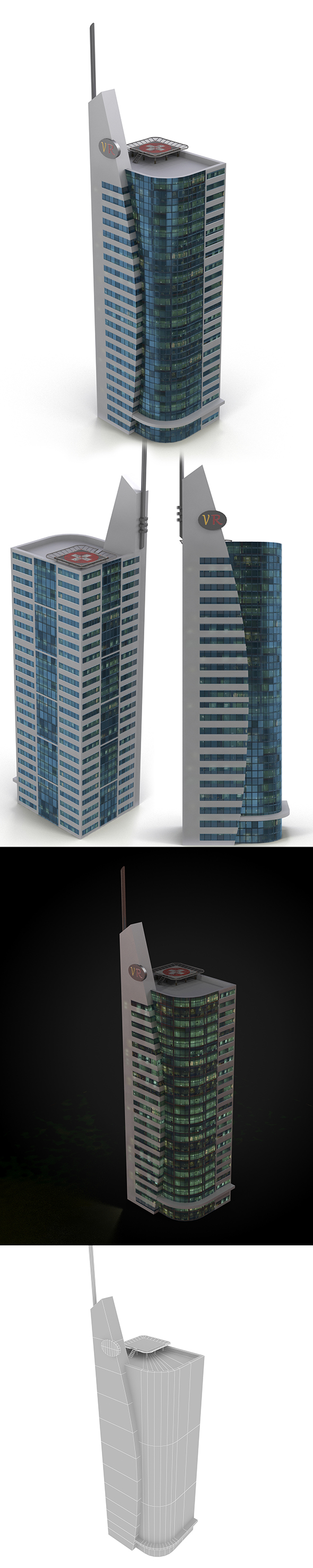 skyscraper_4 - 3DOcean Item for Sale