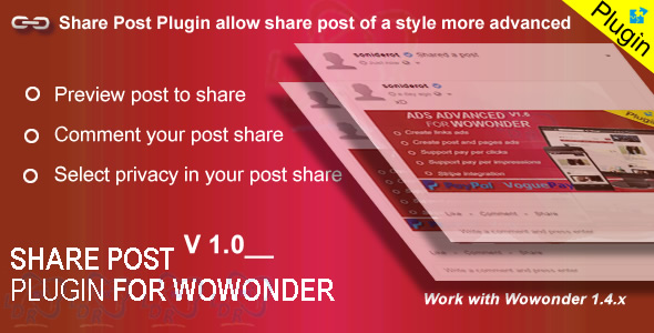 Download Plugin Share For Wowonder nulled download