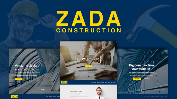 Download Zada - Construction WordPress Theme nulled download