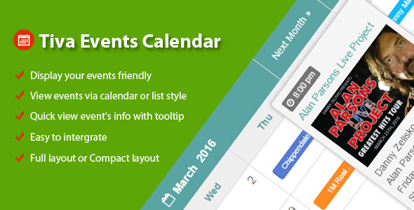 Download Tiva Events Calendar For PHP nulled download