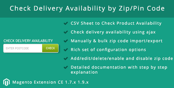 Verify Delivery Availability by Zip/Pin Code (Magento Extensions)