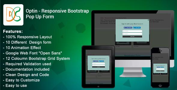 Optin - Responsive Bootstrap Pop Up Form