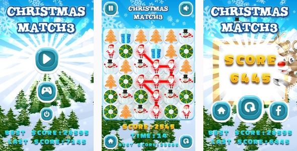 Christmas Match3 – HTML5 Game + Android + AdMob (Capx) (Games)