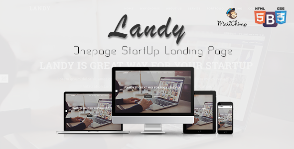 Download Landy - Onepage Startup Landing Page nulled download