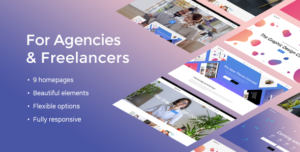 Download Fuzion - A Fresh Theme for Design Agencies & Freelancers nulled download