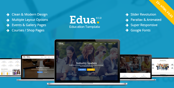 Download Edua - Educational HTML5 Template