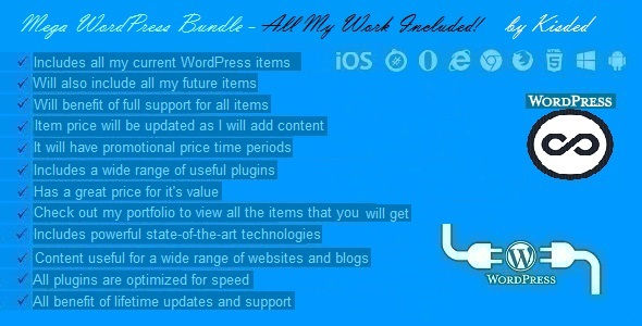 Mega WordPress Bundle by Kisded