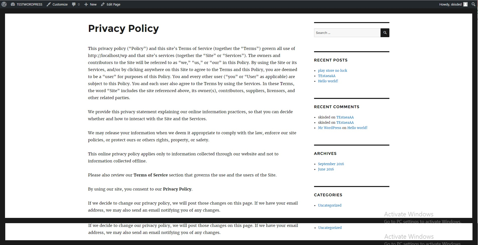 Privacy Policy: Mega WordPress 'All-My-Items' Bundle By CodeRevolution By