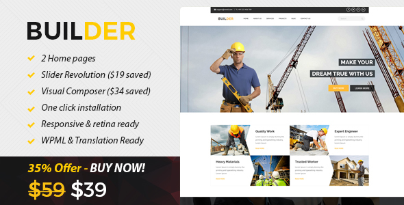 Download Builder - Construction and Builder WordPress Theme nulled download