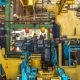 Tractor Engine Assembled on the Factory Production Line on Tractor Factory