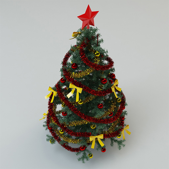 Christmas tree - 3DOcean Item for Sale