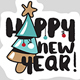 Christmas and New Year's Social Media Stickers