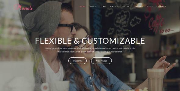 Monali - Responsive HTML5 Template