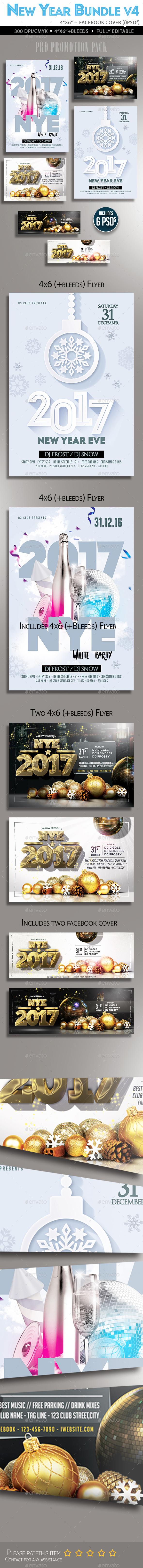 New Year Flyer Bundle V4