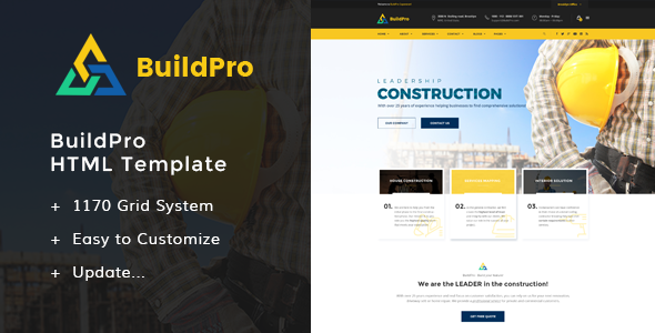 BuildPro – Building HTML Templates (Small business)