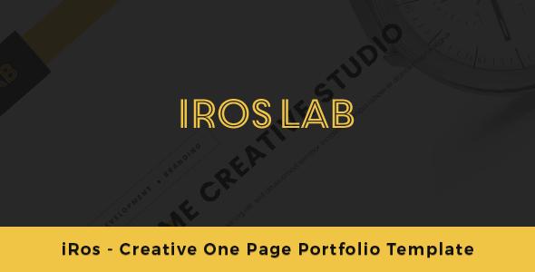 iRos – Creative One Page Portfolio Template