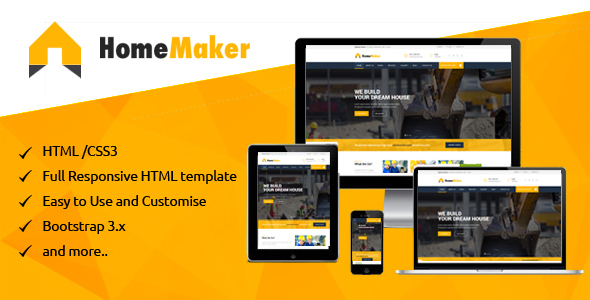 Home Maker - Construction & Building company HTML Template
